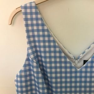 Eloquii Dresses - Blue Pleated Gingham Dress